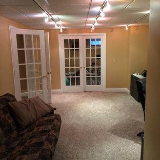 exercise room in basement  houzz