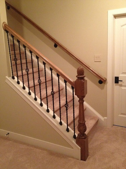 Traditional Basement by Brian Cox Building and Remodeling LLC.