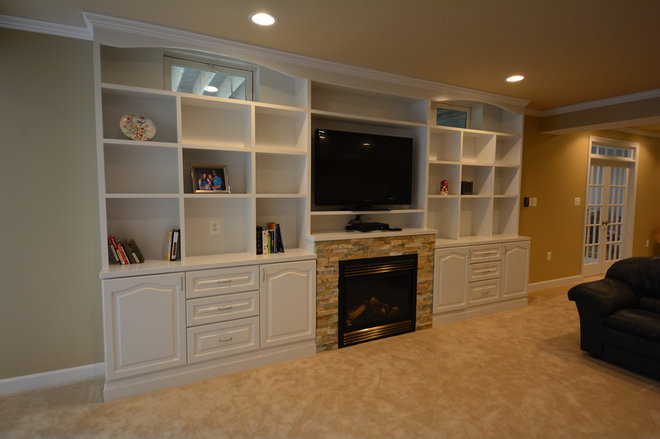 Contemporary Basement by Basement Masters