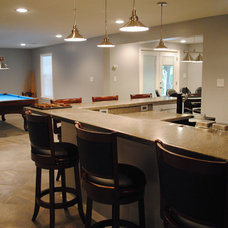 contemporary basement by Lensis Builders, Inc.