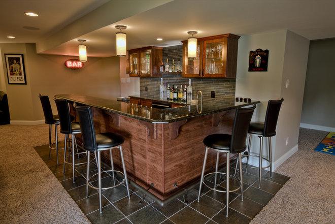 Transitional Basement by West Chester Design / Build, LLC