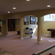 Traditional Basement by Finished Basements Plus