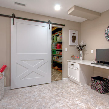Finished Basement with Craft Room