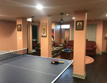 FINISHED BASEMENT WITH UNIQUE TWIST AND SPIRIT, MILTON, MA