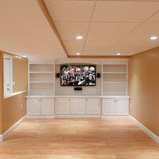 Traditional Basement by Alusta Construction basement finishing