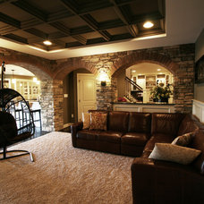 Modern Basement by Renovations by Garman LLC
