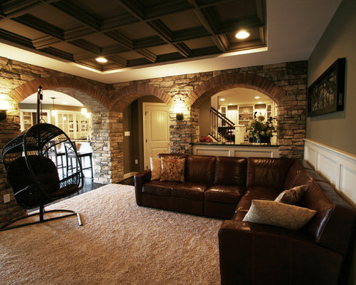 Low basement ceilings houzz for Modern finished basements