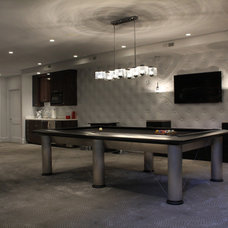 Contemporary Basement by Terra Nova Construction