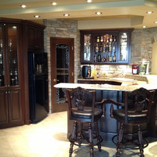 Traditional Basement by Rick's Custom Cabinets