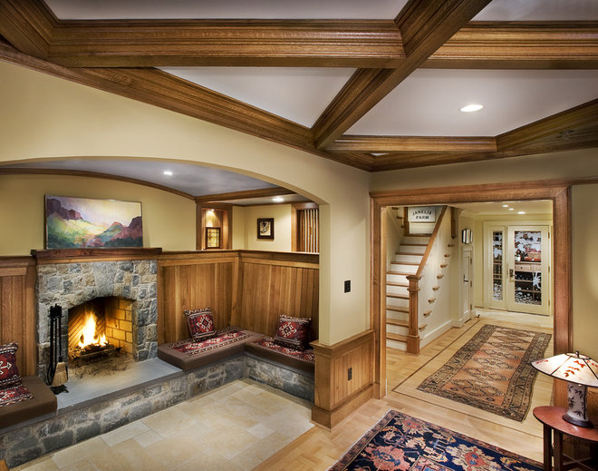 Contemporary Basement by Bennett Frank McCarthy Architects, Inc.