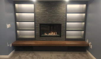 Fireplace walnut hearth