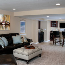Traditional Basement by Joseph Douglas Homes and Remodeling LLC