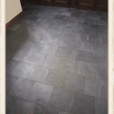 Traditional Basement by Bond Tile & Stone