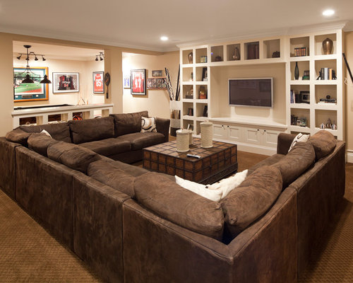 U shaped sectional ideas pictures remodel and decor - The living room lounge indianapolis ...