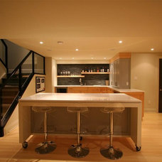 Modern Basement by Interior Works Inc