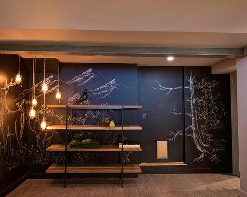 rustikale keller mit korkboden ideen design bilder houzz. Black Bedroom Furniture Sets. Home Design Ideas