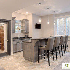 Contemporary Basement by Greenside Design Build LLC