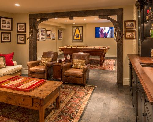 Foto e idee per taverne taverna con pavimento con - Piastrelle taverna ...