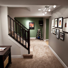 Contemporary Basement by Ryan Duebber Architect, LLC