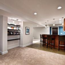 Contemporary Basement by Ryan Duebber Architect, LLC
