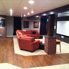 Contemporary Basement by JGB Property Services