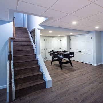From Storage Room to Fun Family Room: A Basement Remodel