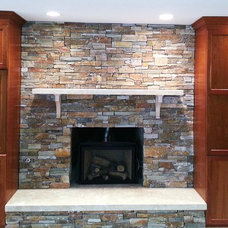 Traditional Basement by VALLEFUOCO Contractors, LLC