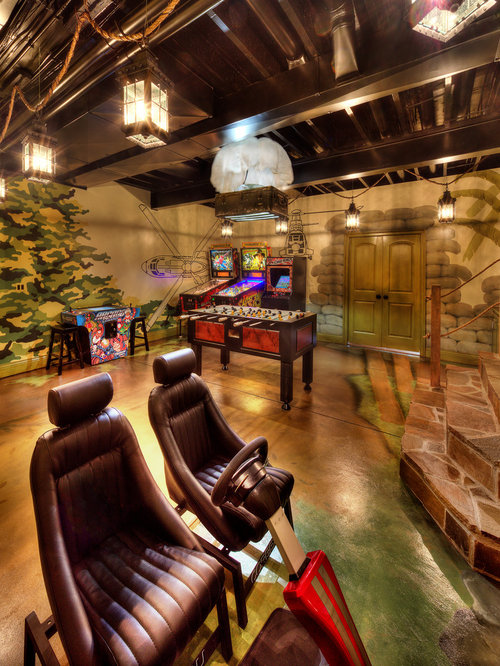 7 Basement Ideas On A Budget Chic Convenience For The Home: Top 20 Tropical Basement Ideas & Photos