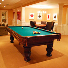 Traditional Basement by Maureen Fiori, AKBD, Allied Member ASID, CAPS