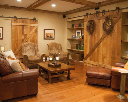 ornate double barn door basement design ideas renovations photos