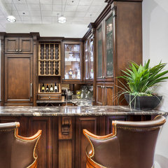 traditional basement by Elmwood Fine Custom Cabinetry