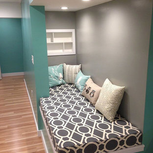 Inspiration for a scandinavian basement remodel in Other