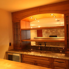 Traditional Basement by Detail by Design