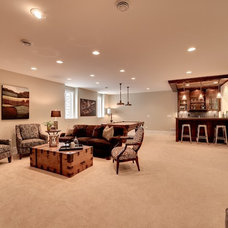 Traditional Basement by Spacecrafting / Architectural Photography