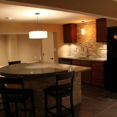 Traditional Basement by Interior Concrete