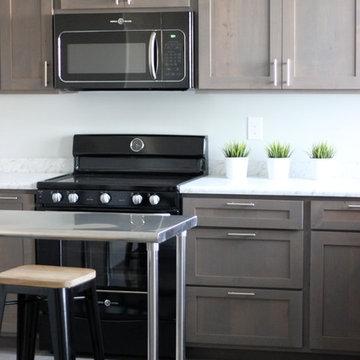 Grey Stain Kitchen (basement)
