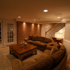 Traditional Basement by Matthew Bowe Design Build, LLC