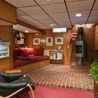 Ragley Hall Residence Basement Midcentury Basement
