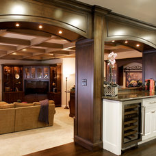 Traditional Basement by Almaden Interiors, Inc.