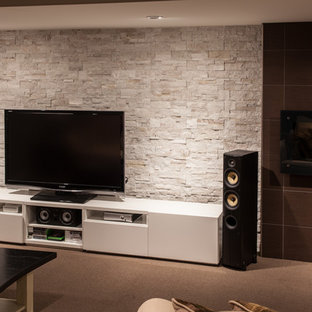 Stone Behind Tv Houzz