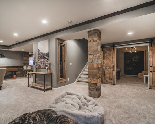 30 Trendy Rustic Basement Design Ideas Pictures Of