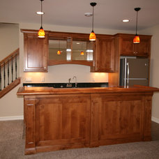 traditional basement by Regency Builders Inc.