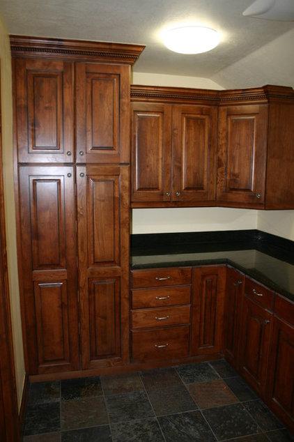 Traditional Basement by Markim Construction, LLC