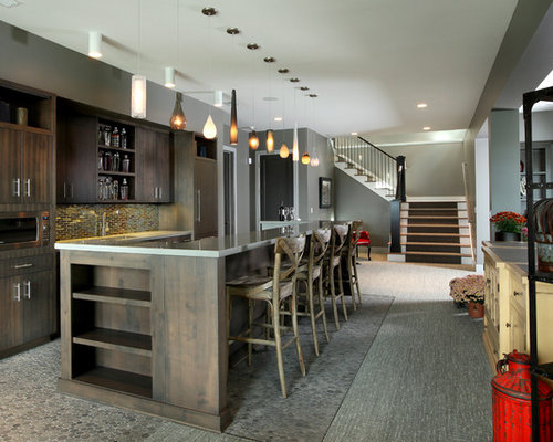 Bi level basement island houzz for Bi level basement ideas