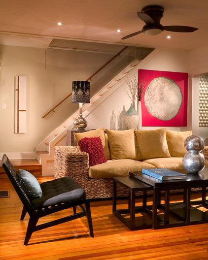 Traditional Basement by suzanne lawson design - interior design