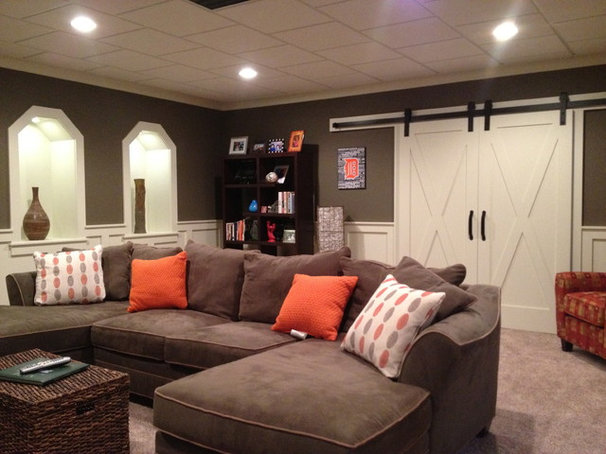 Traditional Basement by Timberland Homes