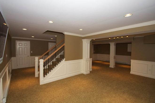 Traditional Basement by Hammerhead Custom Carpentry, LLC of Lancaster