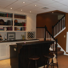 Traditional Basement by Hammerhead Custom Carpentry, LLC of Lancaster
