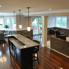 Traditional Basement by Lehigh Valley Interior Construction