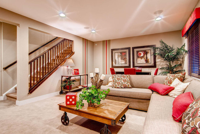 Traditional Basement by Wonderland Homes